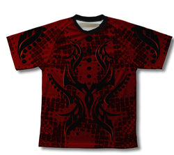 Black and Red Tribal Technical T-Shirt for Men and Women