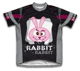 Black Magic Rabbit Short Sleeve Cycling Jersey for Men and Women