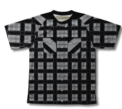 Black Plaid Shirt Technical T-Shirt for Men and Women
