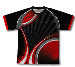 Black Red Striker Technical T-Shirt for Men and Women