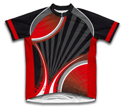 Black Red Striker Short Sleeve Cycling Jersey for Men and Women