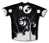 Black Swirls Short Sleeve Cycling Jersey for Men and Women