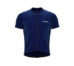 Chroma Contrast |  Short Sleeve Cycling Jersey Blue - Black zip - Red seam | Men and Women