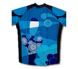 Blue Swirl Musician Winter Thermal Cycling Jersey