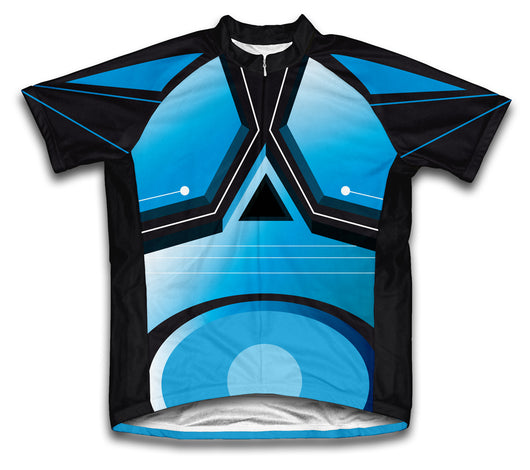 Blue Trace Short Sleeve Cycling Jersey for Men and Women