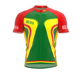 Bolivia  Full Zipper Bike Short Sleeve Cycling Jersey