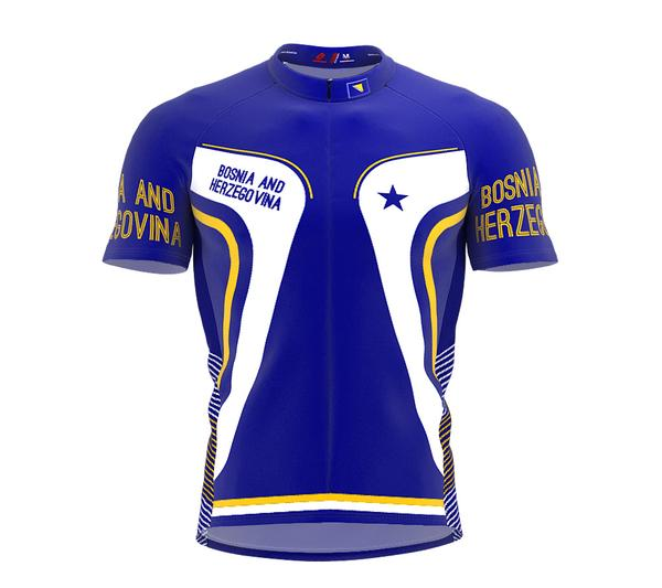 Bosnia And Herzegovina  Full Zipper Bike Short Sleeve Cycling Jersey for Men and Women