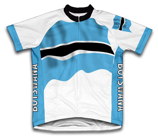 Botswana Flag Cycling Jersey for Men and Women