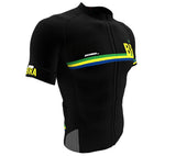 Brasil Black CODE Short Sleeve Cycling PRO Jersey for Men and Women