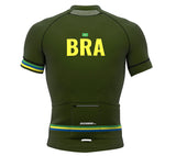 Brasil Green CODE Short Sleeve Cycling PRO Jersey for Men and Women