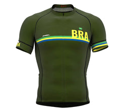 Brasil Green CODE Short Sleeve Cycling PRO Jersey for Men and WomenBrasil Green CODE Short Sleeve Cycling PRO Jersey for Men and Women