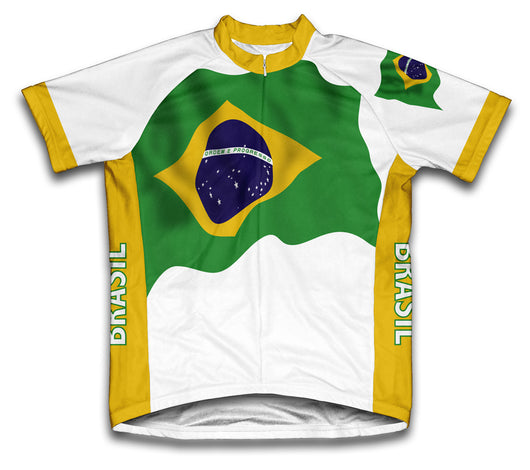 Brasil Flag Cycling Jersey for Men and Women