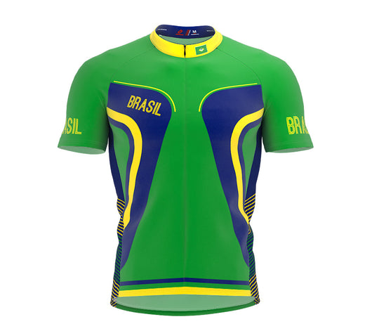 Brasil  Full Zipper Bike Short Sleeve Cycling Jersey