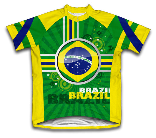 Brazil Short Sleeve Cycling Jersey for Men and Women