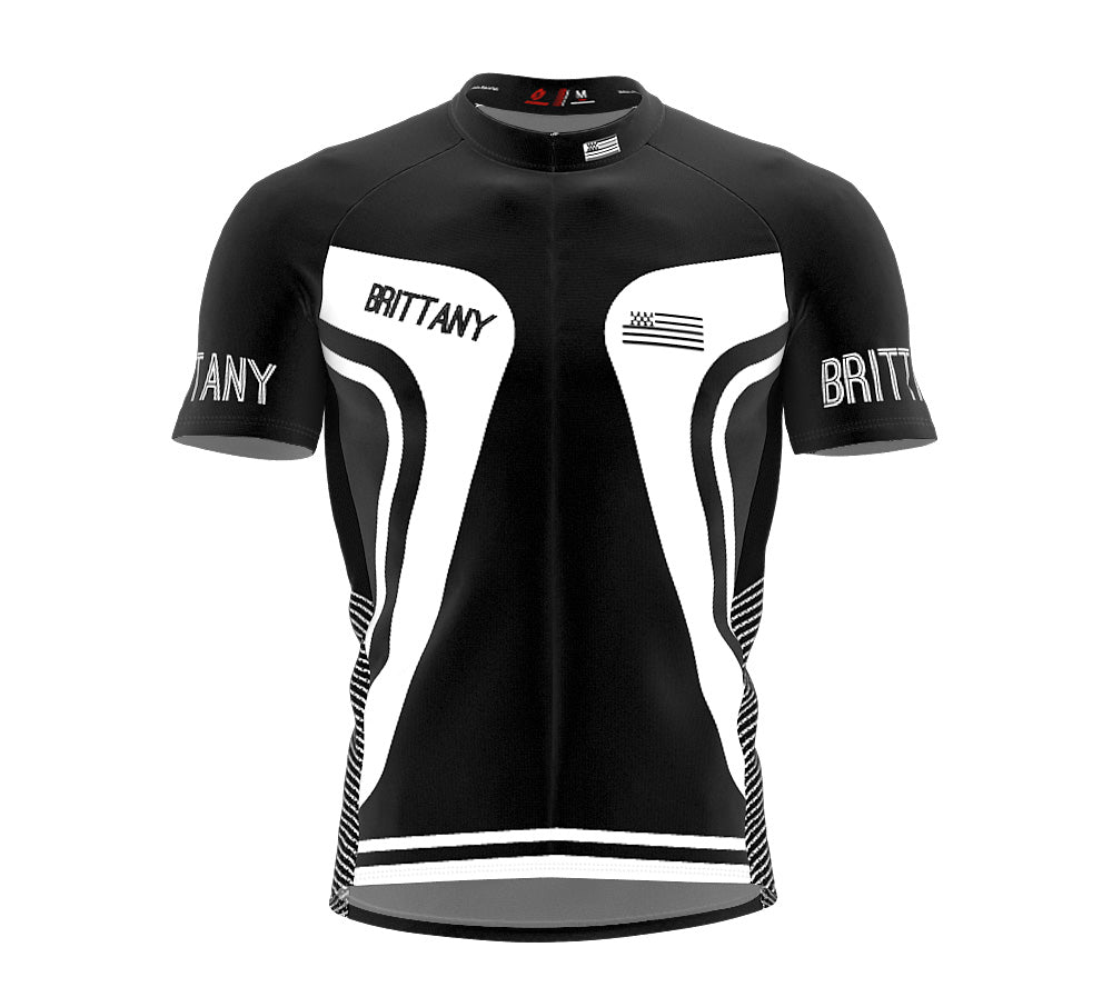 Brittany  Full Zipper Bike Short Sleeve Cycling Jersey