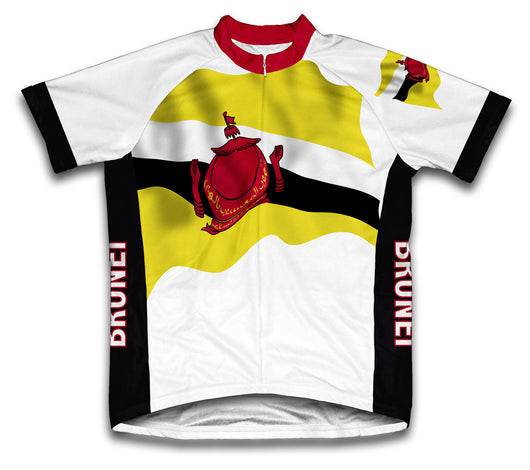 Brunei Flag Cycling Jersey for Men and Women