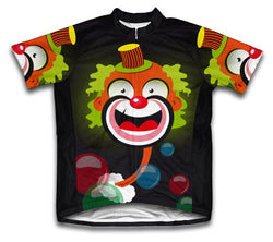 Bubbly Clown Short Sleeve Cycling Jersey for Men and Women