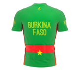 Burkina Faso  Full Zipper Bike Short Sleeve Cycling Jersey