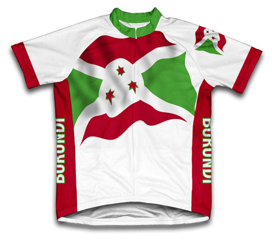Burundi Flag Cycling Jersey for Men and Women