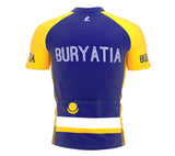 Buryatia  Full Zipper Bike Short Sleeve Cycling Jersey