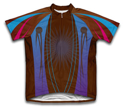 Cafe Color Splash Short Sleeve Cycling Jersey for Men and Women