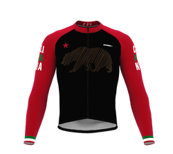 ScudoPro Pro Thermal Long Sleeve Cycling Jersey California USA state Icon landmark identity  | Men and Women