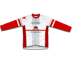 California Flag Winter Thermal Cycling Jersey