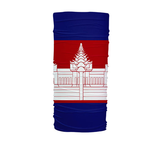 Cambodia Flag Multifunctional UV Protection Headband