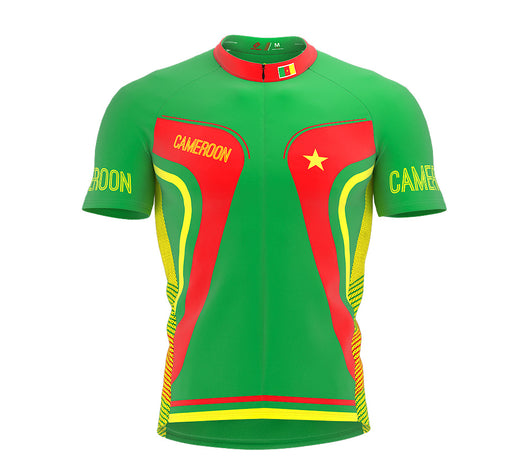 Cameroon  Full Zipper Bike Short Sleeve Cycling Jersey