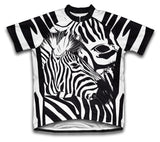 Camo Zebra Short Sleeve Cycling Jersey for Men and Women