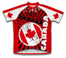 Canada Short Sleeve Cycling Jersey for Men and Women