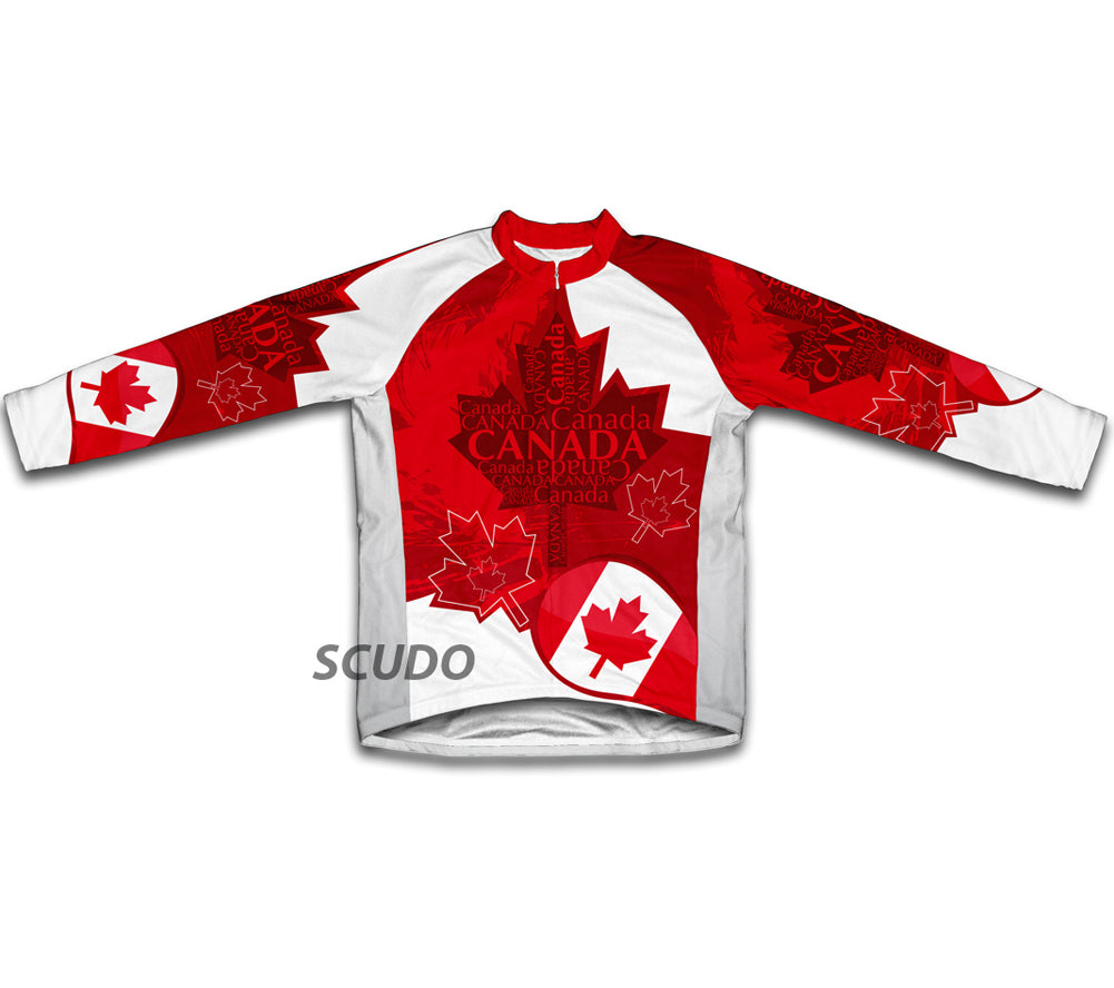 Canada Art Winter Thermal Cycling Jersey