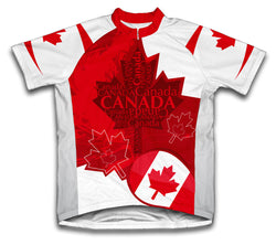 Canada Art Short Sleeve Cycling Jersey for Men and Women