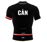Canada Black CODE Short Sleeve Cycling PRO Jersey for Men and Women