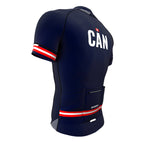 Canada Blue CODE Short Sleeve Cycling PRO Jersey for Men and Women