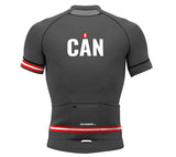 Canada Gray CODE Short Sleeve Cycling PRO Jersey for Men and Women