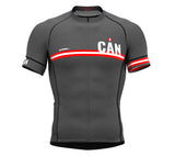 Canada Gray CODE Short Sleeve Cycling PRO Jersey for Men and WomenCanada Gray CODE Short Sleeve Cycling PRO Jersey for Men and Women