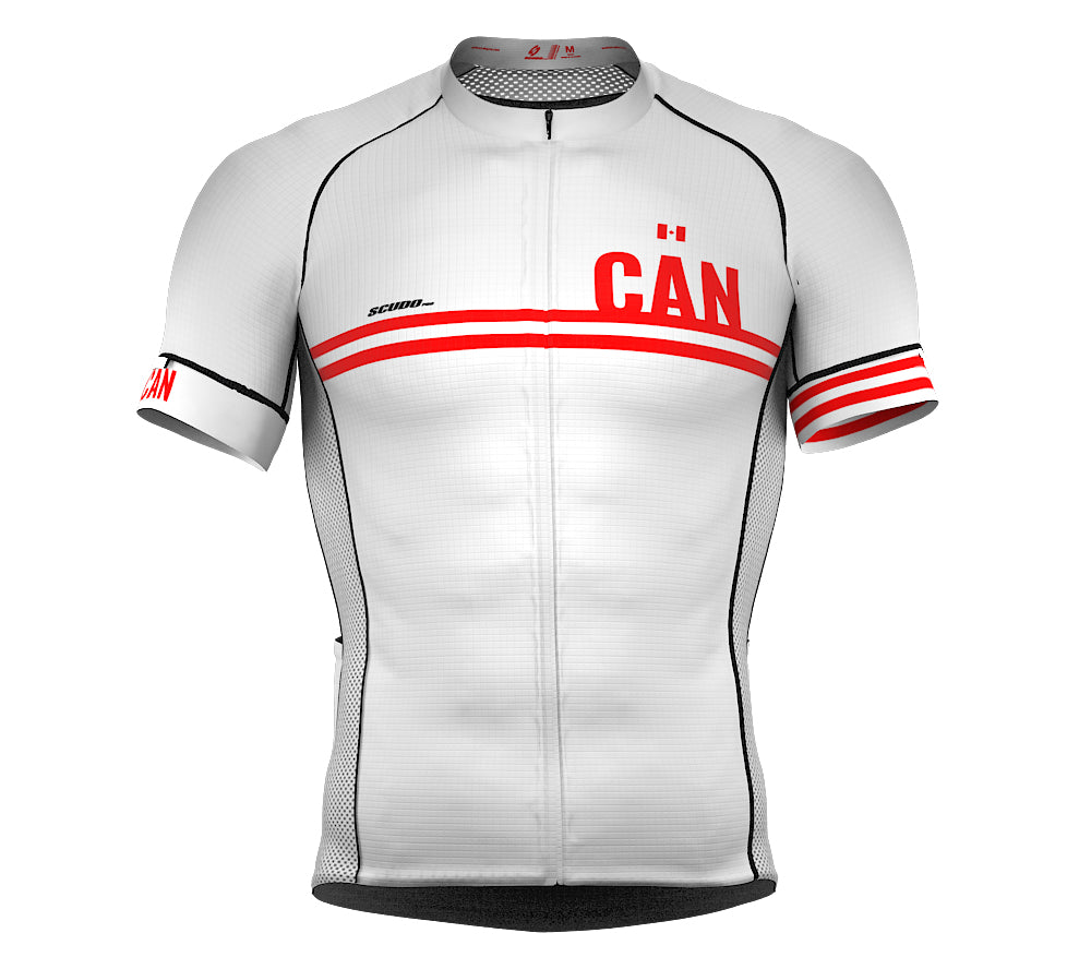 Canada White CODE Short Sleeve Cycling PRO Jersey for Men and WomenCanada White CODE Short Sleeve Cycling PRO Jersey for Men and Women