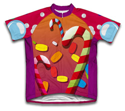 Candy Paradise Short Sleeve Cycling Jersey for Men and Women