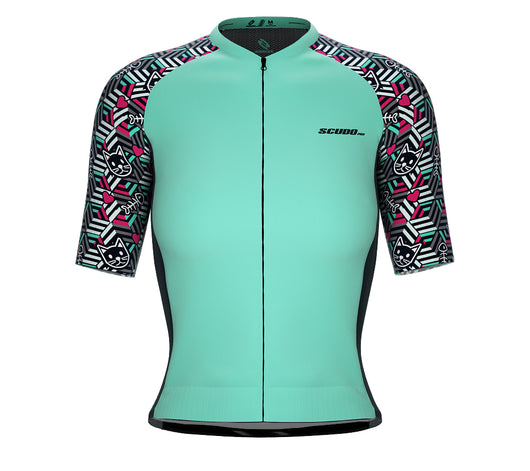 Scudopro Pro-Elite Short Sleeve Cycling Pro Fit Jersey Cat Dimension for Women