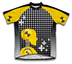 Caution Crashers Short Sleeve Cycling Jersey for Men and Women