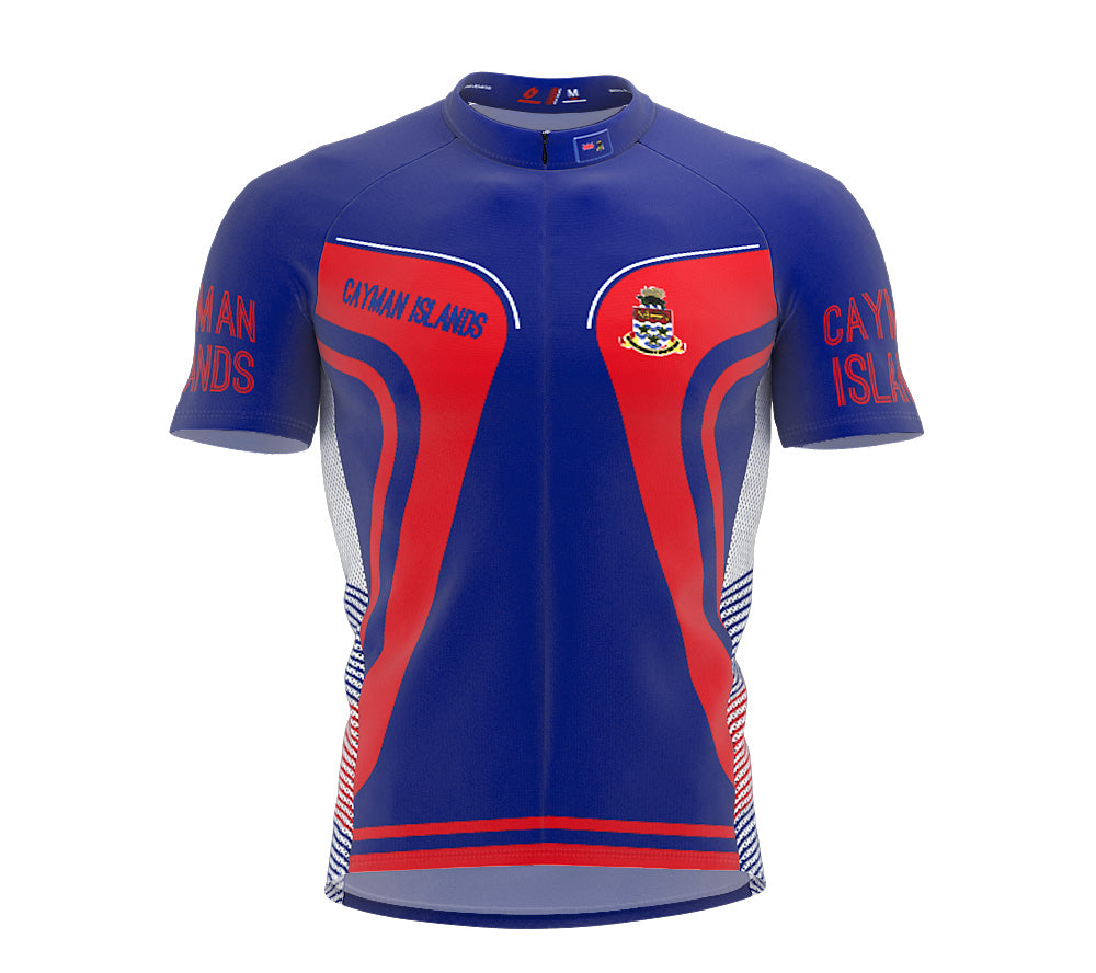 Cayman Islands  Full Zipper Bike Short Sleeve Cycling Jersey