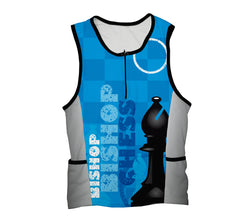 Chess Bishop Triathlon Top