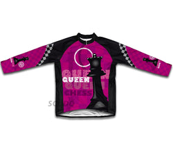 Chess Queen Winter Thermal Cycling Jersey