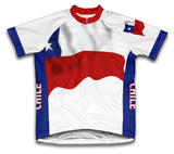 Chile Flag Cycling Jersey for Men and Women