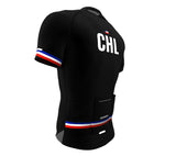 Chile Black CODE Short Sleeve Cycling PRO Jersey for Men and Women