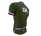 Chile Green CODE Short Sleeve Cycling PRO Jersey for Men and Women