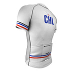 Chile White CODE Short Sleeve Cycling PRO Jersey for Men and Women