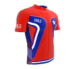 Chile  Full Zipper Bike Short Sleeve Cycling Jersey