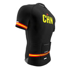 China Black CODE Short Sleeve Cycling PRO Jersey for Men and Women